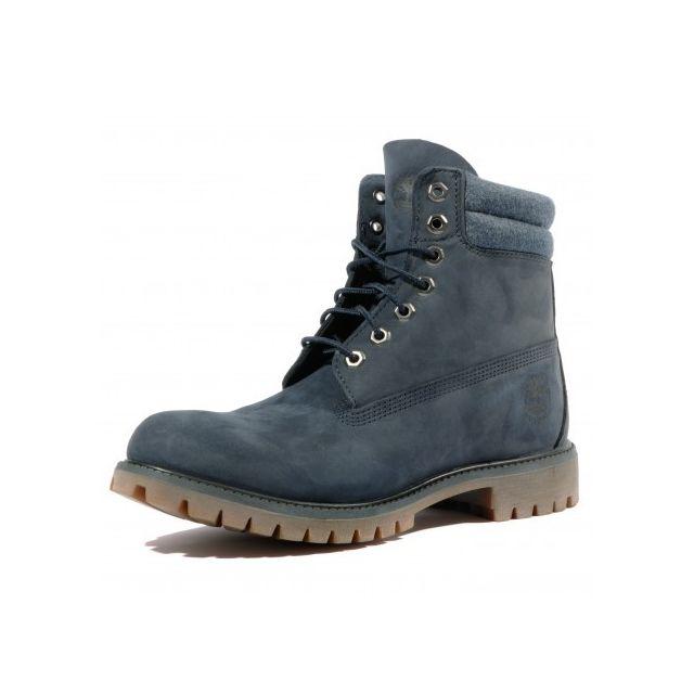 Timberland - 6 In Double Collar Homme Boots Bleu Multicouleur - pas cher  Achat   Vente Chaussures de ville homme - RueDuCommerce a6d79d3e8c10