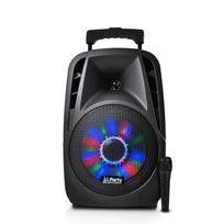 "Party Sound - Enceinte portable 8""/20cm 300W à Leds Rvb avec Usb/BLUETOOTH/FM/MICRO"
