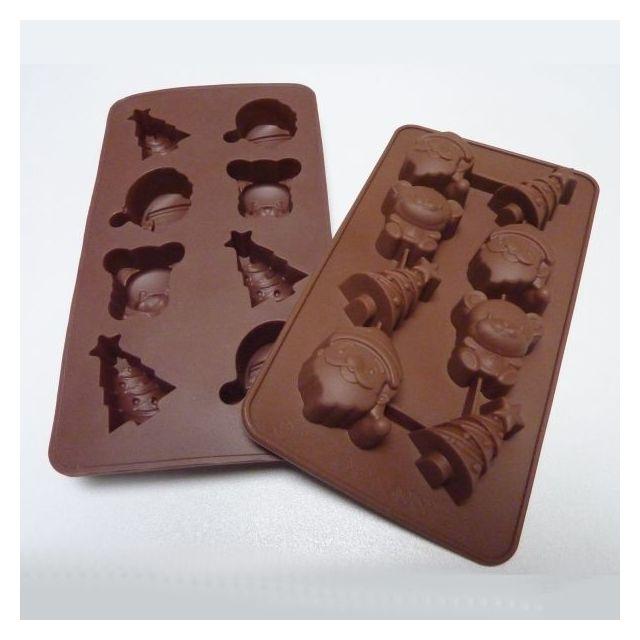S.I.F Moule 8 chocolats de Noel en Silicone Chocolaflex