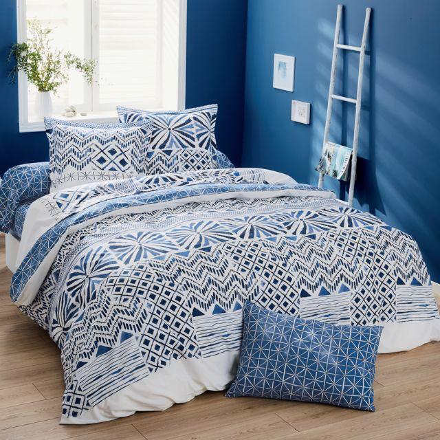 origin drap plat priscilla en bambou bleu 240 x 300 cm pas cher achat vente draps plats. Black Bedroom Furniture Sets. Home Design Ideas