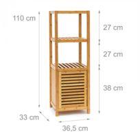 helloshop26 tagre pour salle de bain cuisine armoire bambou 4 tages plateaux meuble rangement serviette