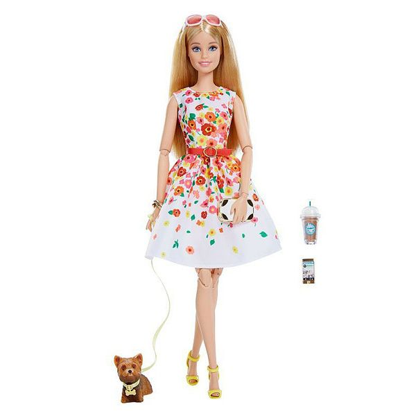 Mattel Barbie Barbie look Blonde avec robe blanche look