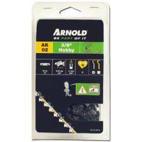 """Arnold - Chaîne 3/8"""" Lp, 1,3mm, 57 Entr avec element de securité, demi rond - 1191-X1-0018"""