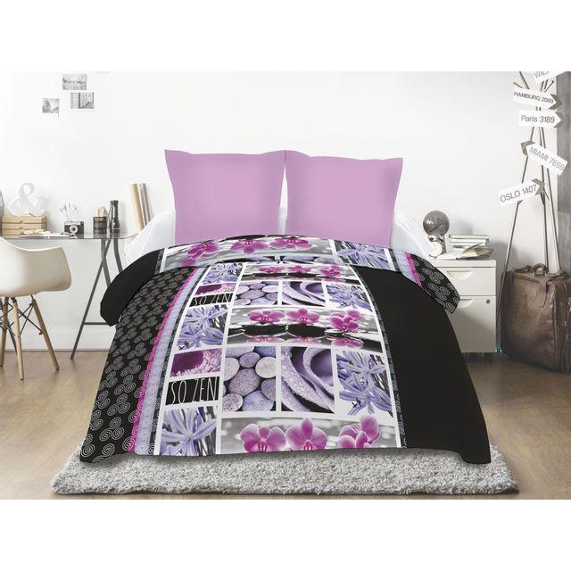 couette zen achat vente de couette pas cher. Black Bedroom Furniture Sets. Home Design Ideas
