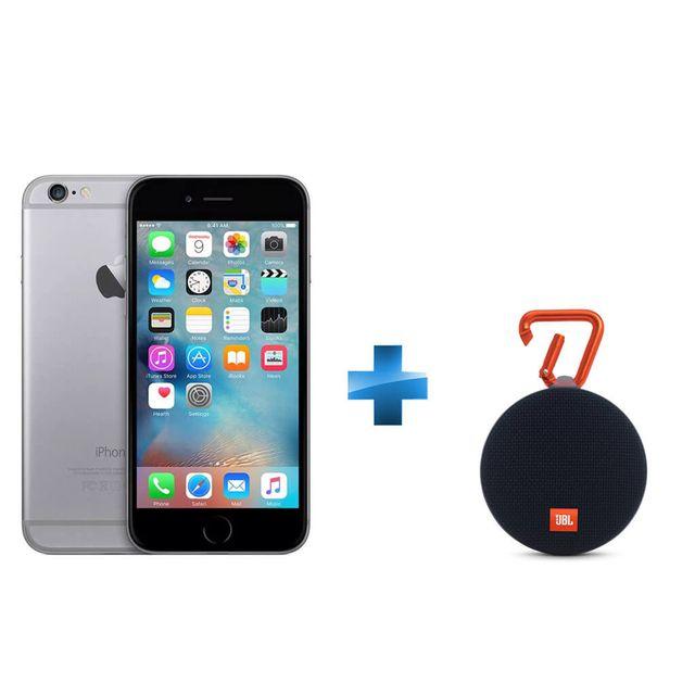 APPLE - iPhone 6 - 64 Go - Gris Sidéral + Enceinte nomade Clip 2