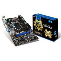 MSI - Carte mère H81M-P33 - Chipset Intel H81 - Socket 1150