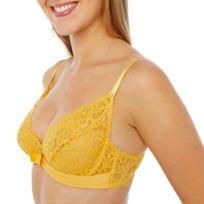 Pomm'POIRE - Soutien-gorge corbeille bonnets B, C et D jaune Innocente