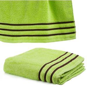 le linge de jules serviette de toilette 50x100 cm 100 coton 550 grs m2 anis avec liserets. Black Bedroom Furniture Sets. Home Design Ideas
