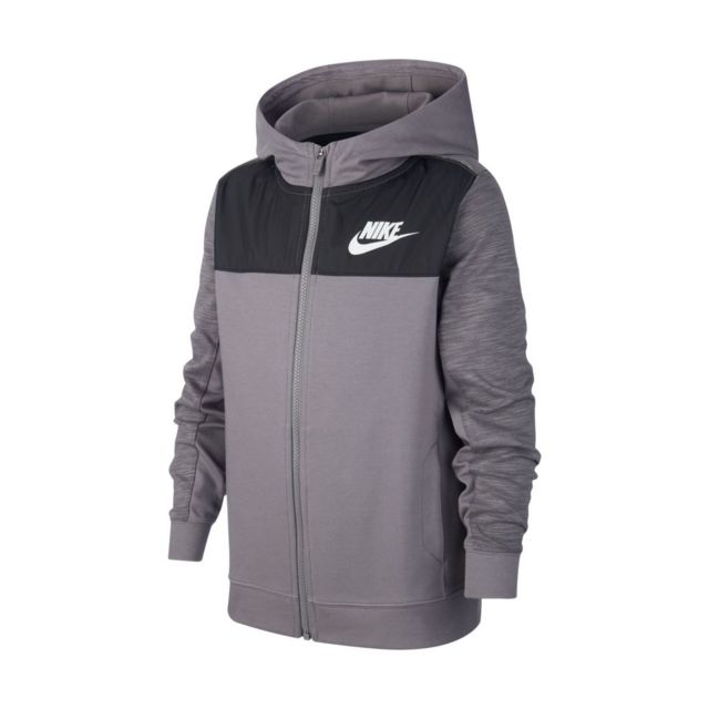 Sweat à capuche Nike Club Full Zip Junior BV3699 091