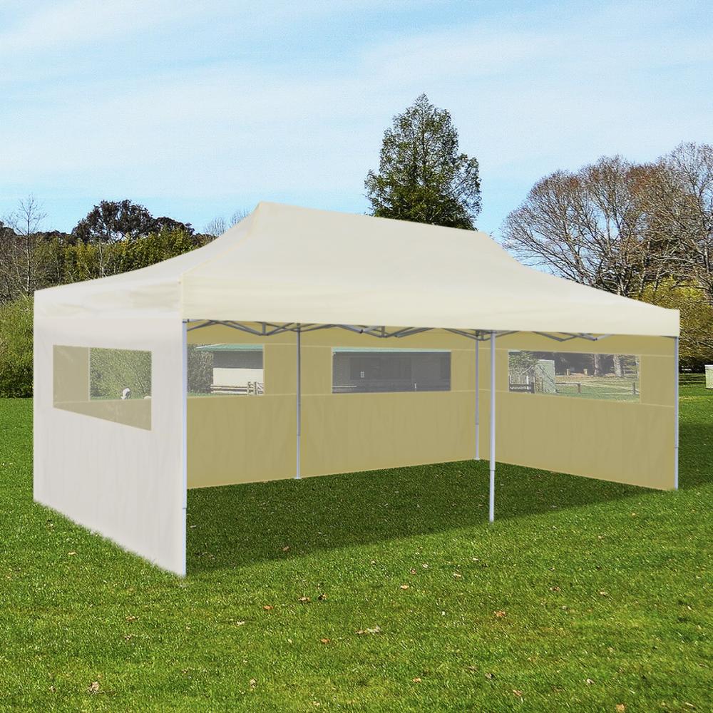 Rocambolesk - Superbe Tente de réception pliable crème 3 x 6 m neuf