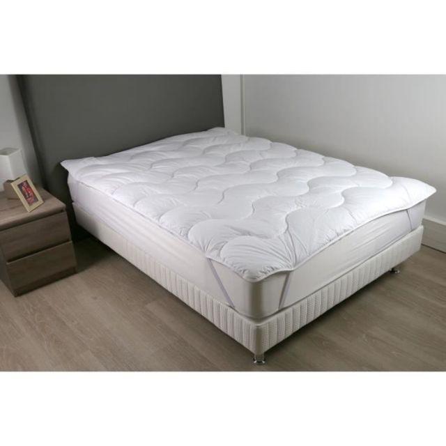 SUR-MATELAS Surmatelas 140 x 190 - Polyester fibre haute technologie - Moelleux - CONTRY