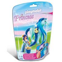 PLAYMOBIL - PRINCESS - Princesse Bleuet avec cheval à coiffer - 6169