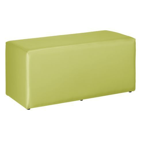 Pouf Modul Color vinyle rectangle vert
