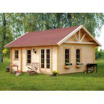 HABITAT ET JARDIN - Chalet jardin bois Bern 23.52m² - 4.20 x 5.60 x 3.50 m - 45 mm