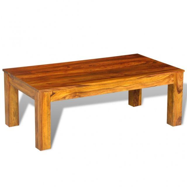 Casasmart Table basse en palissandre massif 110 x 60 x 40 cm