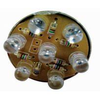 Flauraud - 1 Lampe 7 leds rouge 5w 12v
