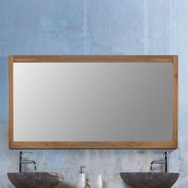 Miroir en bois de teck 145