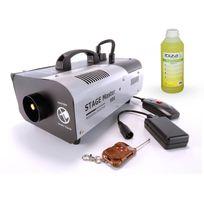 Varytec - Machine à fumée gros débit avec 2 télécommandes Stage Master + 1 litre de liquide