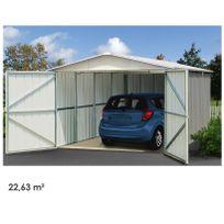 YARDMASTER - Sydney 2263 - Garage en acier - 22,63m² - Gris anthracite et alu