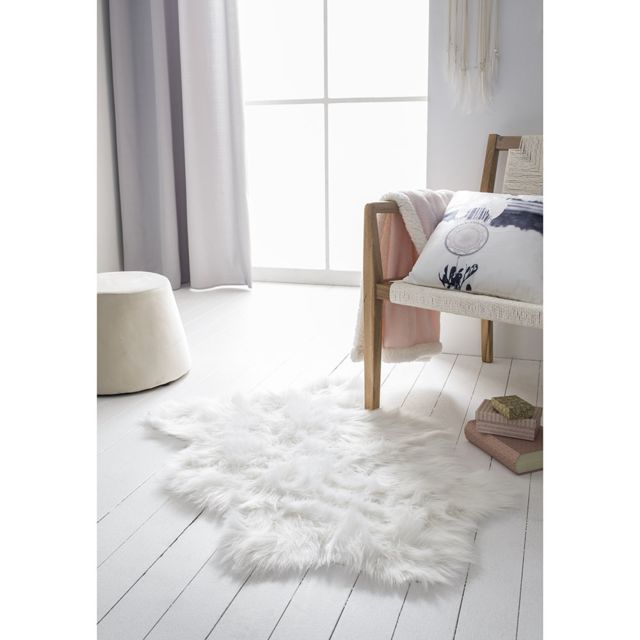 Today - Tapis imitation fourrure blanche Stockholm 60x90cm