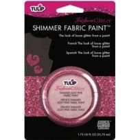 Tulip - 28966 Peinture Scintillante Pour Tissu 1 Pot De 51,6 Ml Couleur Rose Clair