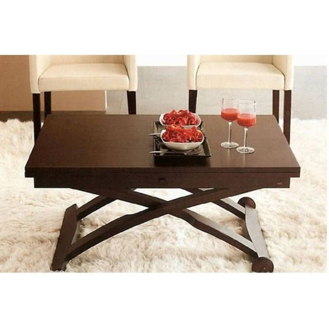 inside 75 table basse relevable extensible italienne mascotte weng pas cher achat vente. Black Bedroom Furniture Sets. Home Design Ideas