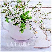 Tableau Toile Cadre Déco Zen Fleur Coeur Inscription Nature