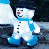 Blachère illumination - Bonhomme de neige patineur