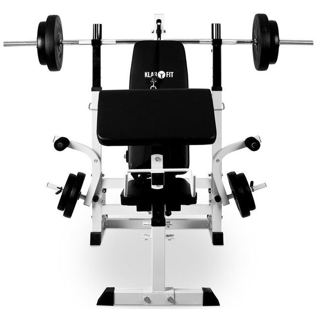 KLARFIT - Banc de musculation station à charge guidée curler butterfly