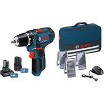 Bosch - Gsr 10,8-2-LI Perceuse Visseuse sans fil inclu. 2 batteries, chargeur et accessoires 39 pcs