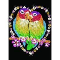 Kitfix Swallow Group Ltd - Ksg Sequin Art Loisirs CrÉATIFS Love Birds Oiseaux Amoureux