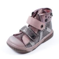 Babybotte - Boots marron rose Atoukeur