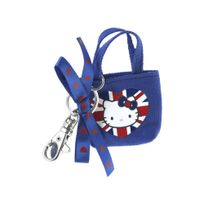 Hello Kitty - bijou de sac porte-cles mini cabas loves uk angleterre union jack