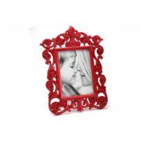 Declikdeco - Cadre Photo Baroque Rouge Irèna 10X15 cm