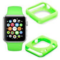Duragadget - Coque de protection Vert pour Apple Watch iWatch, montre écran 42mm