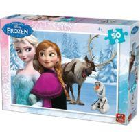 KING - Puzzle 50 Pieces Disney - Reine Des Neiges Avec Elsa Olaf Et Sven Enfant