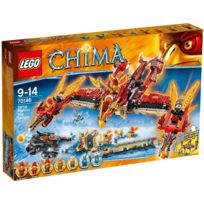 Lego - Legends Of Chima - Le Temple Du Phoenix De Feu - Jeu De Construction