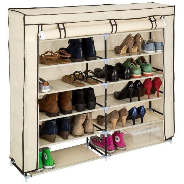Armoire à Chaussures Meuble de Rangement pour 24 Paires de