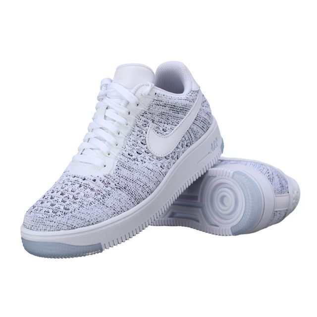 online store a74bd 279b4 Nike - Basket W Af1 Flyknit Low 820256 - 103 Blanc - pas cher Achat / Vente  Baskets homme - RueDuCommerce
