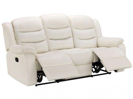 marque generique canap 3 places relax en cuir de buffle. Black Bedroom Furniture Sets. Home Design Ideas
