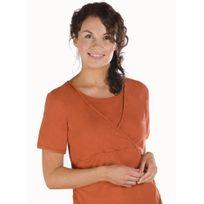 Carriwell - T-shirt d'Allaitement - Kaj Manches Courtes - Orange - Xxl