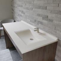 Plan simple vasque déportée RÉSIPLAN - 141 cm vasque à droite