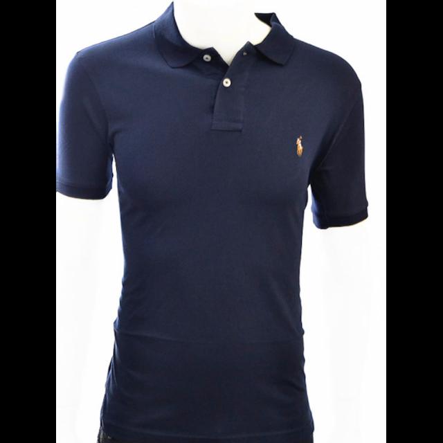 Ralph Lauren - Polo Ajuste Bleu Newport En Coton Pima Taille M - pas cher  Achat   Vente Polo homme - RueDuCommerce e4fa31353575