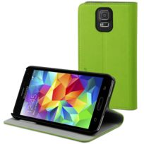 Muvit - Etui Slim Folio Vert Stand 1 Carte Samsung Galaxy S5