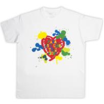 Rigolobo - Tee-Shirt homme blanc 'Peinture pour papa