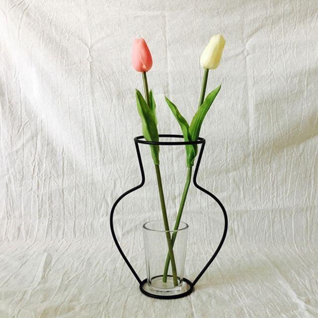vase de decoration Wewoo - Décoration Jardin café Titulaire du0027usine de cadre de vase de fleur  de