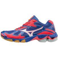 Mizuno - Chaussures Wave Bolt 5 bleu/blanc/rose