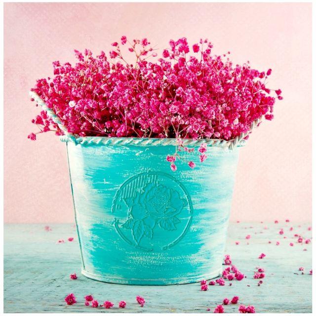 Pot De Fleur Rose : promobo tableau toile cadre zen pot de fleur composition florale rose pot turquoise 25cm x ~ Nature-et-papiers.com Idées de Décoration