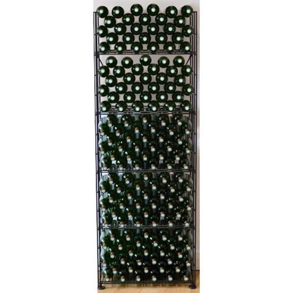 L'ATELIER Du Vin Rangements modulaires de 160 bouteilles - Noir Aci-adv908