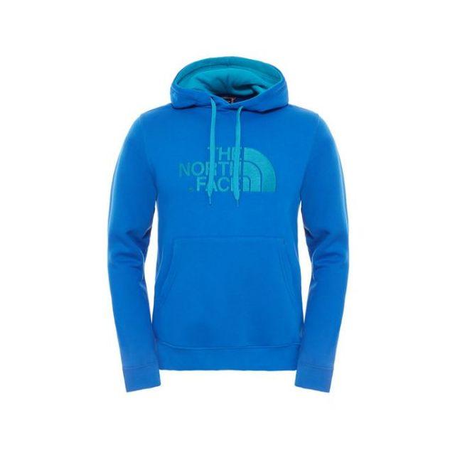 338b71e05f5a1 The north face - Prix Promo  Sweat Drew Peak Capuche Coton homme Bleu - pas  cher Achat   Vente Gilets, polaires - RueDuCommerce